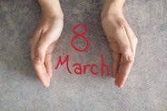 8 de dag van de internationale vrouwen van maart Stock Foto