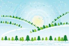 De dag van Kerstmis, vector   Stock Afbeeldingen