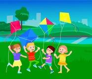 De dag van kinderen, kind Royalty-vrije Stock Foto's