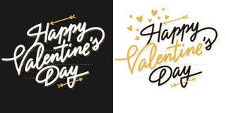 De dag van letters voorziende kaart van Valentine ` s Royalty-vrije Stock Afbeelding