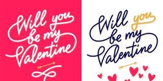 De dag van letters voorziende kaart van Valentine ` s Stock Foto's