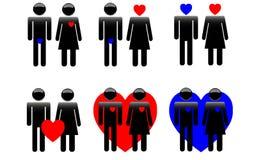 De Dag van Logo Saint Valentine Stock Foto
