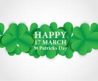 17 de Dag van MAART St Patricks Achtergrond Kaartontwerp met document Royalty-vrije Stock Foto's