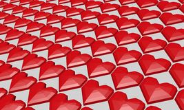 De Dag van rood hartvalentine Royalty-vrije Stock Foto's