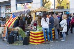 De dag van Santjordi in Catalonië Stock Afbeeldingen