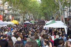 De dag van Santjordi in Catalonië Royalty-vrije Stock Afbeelding