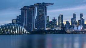 De dag van de tijdtijdspanne aan nachtzonsondergang in Singapore stock video