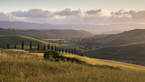 De Dag van Toscanië Met groot scherm Stock Foto