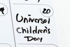 De dag van universele kinderen Royalty-vrije Stock Fotografie