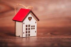 De dag van de valentijnskaart `s Huissymbool Stock Afbeeldingen