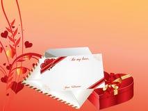 De dag van valentijnskaarten Stock Foto