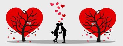 De dag van valentijnskaarten Stock Afbeelding