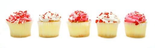 De Dag van valentijnskaarten cupcakes Royalty-vrije Stock Fotografie