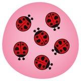 De Dag van valentijnskaarten - de Insecten van de Liefde - Illustratie royalty-vrije illustratie