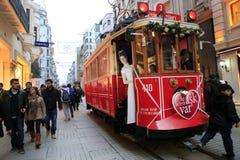 De Dag van valentijnskaarten in Istanboel, Turkije Stock Foto