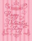De Dag van Valentine, 14 Februari Royalty-vrije Stock Fotografie