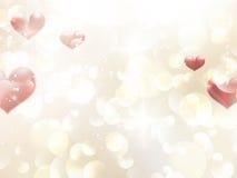 De dag van Valentine of Huwelijksachtergrond. EPS 10 Stock Afbeelding