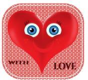 De dag van Valentine - kaart Stock Foto