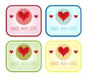 De dag van Valentine - kaarten Royalty-vrije Stock Foto's