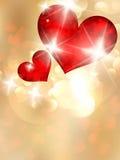 De dag van Valentine met abstracte harten. Royalty-vrije Stock Fotografie