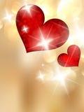 De dag van Valentine met abstracte harten. Stock Foto