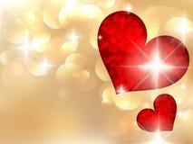 De dag van Valentine met abstracte harten. Stock Afbeeldingen