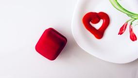 De dag van Valentine, punten op witte of heldere achtergrond royalty-vrije stock foto's