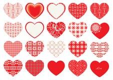 De Dag van Valentine ` s, decoratieve harten Royalty-vrije Stock Afbeeldingen