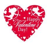 De dag van Valentine ` s met avontuurtjes, liefdepijlen en wolken stock illustratie