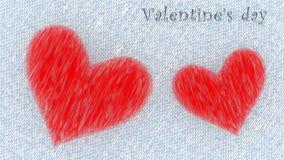 De dag van Valentine ` s - rood hart 3D Illustratie Stock Afbeelding