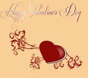 De Dag van Valentine ` s van de groetkaart Stock Afbeelding