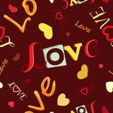 De Dag van Valentine ` s van verschillende inschrijvingenliefde Stock Foto's