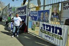 De dag van verkiezingen in Israël Stock Foto's