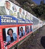De Dag van verkiezingen in Italië, 28/29 Maart 2010 Stock Foto