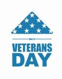 De dag van veteranen De vlagsymbool van de V.S. van het rouwen en zorg Stock Afbeeldingen