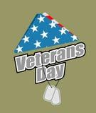 De dag van veteranen De vlagsymbool van de V.S. van het rouwen en zorg voor gevallen s Stock Afbeelding