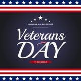 De dag van veteranen Erend iedereen wie dienden 11 november vakantie backg stock afbeeldingen