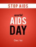 De dag van wereldaids 1 December Stock Foto's