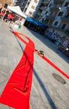 De Dag van wereldaids op de straten van Thessaloniki, Griekenland Stock Afbeelding