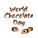 De Dag van de wereldchocolade vector illustratie