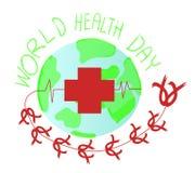 De Dag van de wereldgezondheid , internationale de dag van het wereld rode kruis Voor een affiche en een banner-vectorillustratie vector illustratie