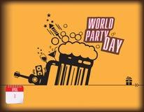 De dag van de wereldpartij Royalty-vrije Stock Foto's