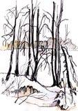 De dag van de winter vector illustratie