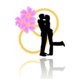 De dag vectorachtergrond van het huwelijk Stock Foto