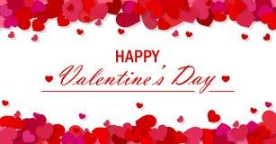 De dag vectorachtergrond van Valentine ` s Stock Afbeelding