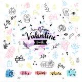 De dag vectorgrafiek van gift huidige Valentijnskaarten Stock Fotografie