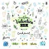 De dag vectorgrafiek van partij harde Valentijnskaarten Royalty-vrije Stock Foto's