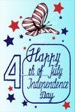 De dag vectorillustratie eps10 van de kaart gelukkige onafhankelijkheid Stock Foto's