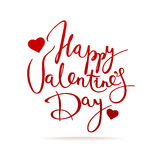 De dag vectorkaart van de gelukkige valentijnskaart Stock Fotografie