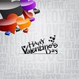 De dag zilveren kaart/achtergrond van de valentijnskaart Royalty-vrije Stock Foto